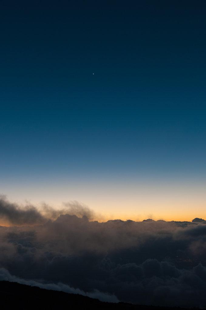 Sonnenuntergang auf dem Heleakala Vulkan