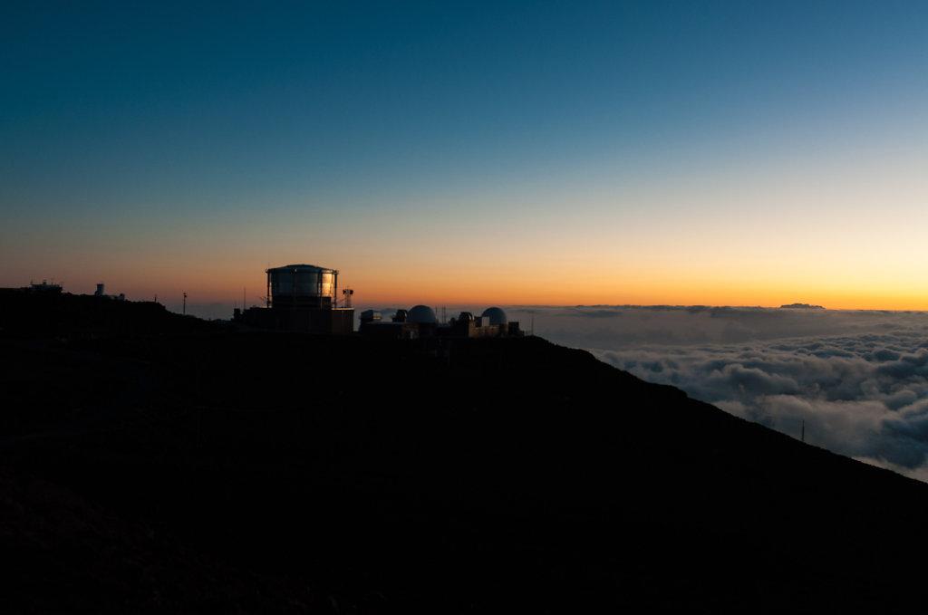 Observatorium auf dem Haleakala Vulkan