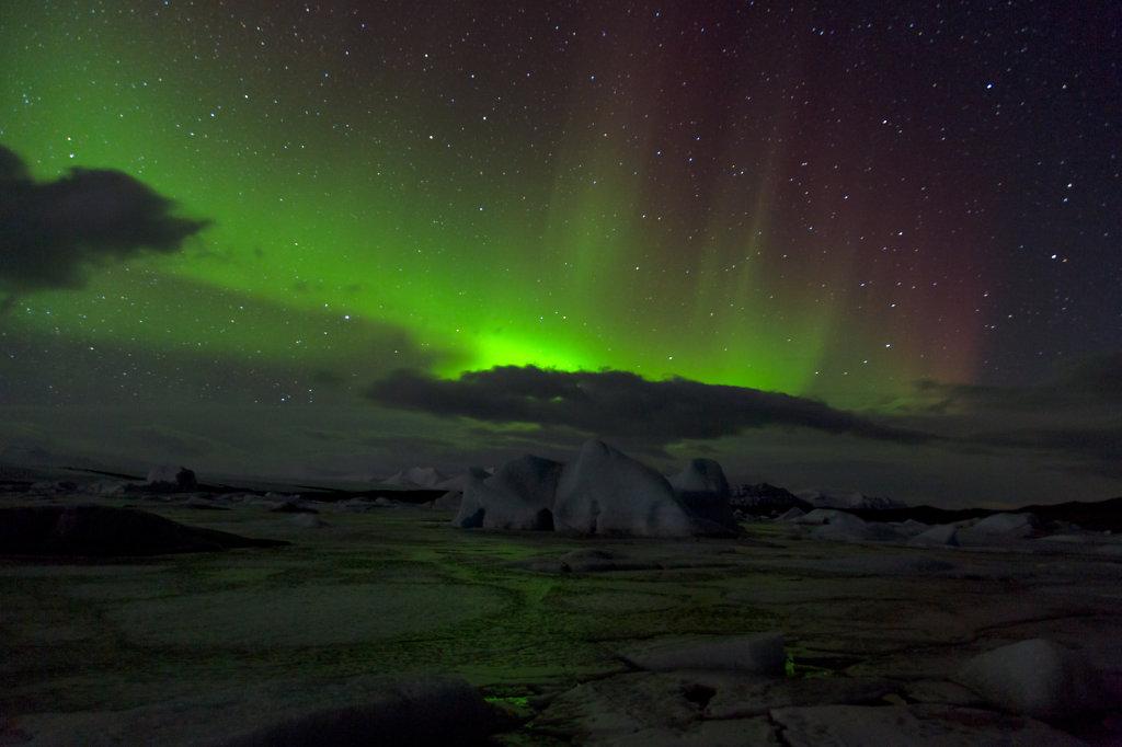 Nordlichter über Fjallsarlon