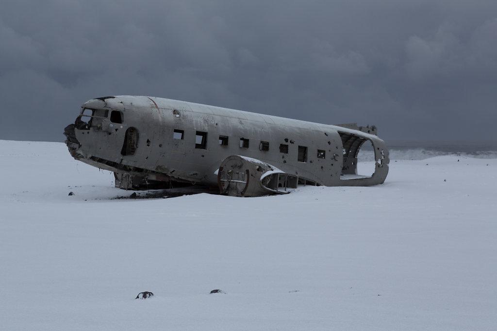 Flugzeugwrack in Island