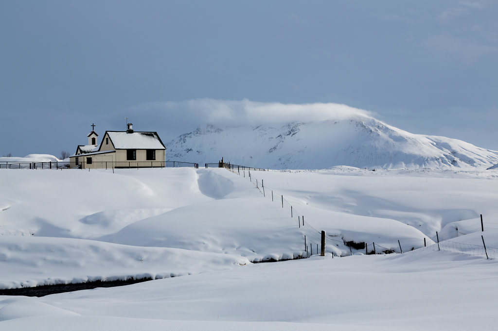 Winterlandschaft bei Keldur, Island