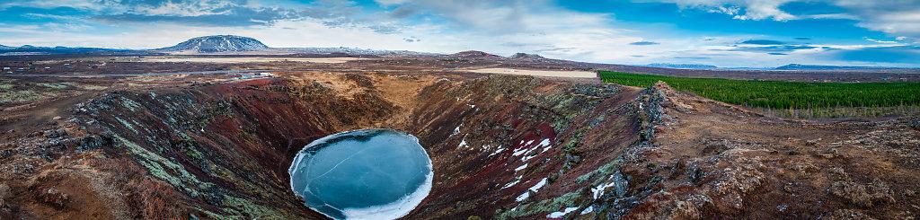 Vulkankrater Kerid - Panorama